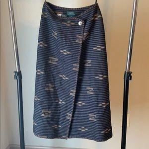 Vintage Ralph Lauren Saddle Blanket Wrap Skirt